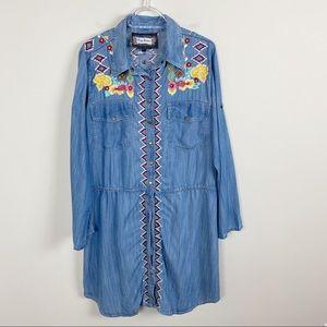 Vintage Collection Floral Embroidered Shirt Dress